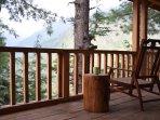 balcony facing glacier peaks