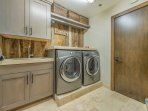 Laundry Room on Lower Level with Full-size Washer and Dryer