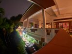 Water garden & Verandah view at night