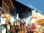 7 minutes by car you enjoy at Fisherman village thai market. Find foods, drinks, souvenir ..