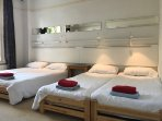Flexi room can be arranged with 2 3 or 4 beds