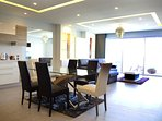 open Lounge /Dining Area with a Seaview