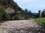 The famous Telford Bridge over the River Spey in Craigellachie. A few minutes walk from the house.