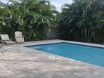 Closest to Beach! Private Heated Pool - everything you need 1 mile or less away!