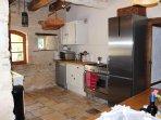 kitchen with large fridge freezer dishwasher