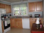Fully equipped eat-in kitchen