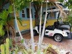 Tropical Yard, Golfcart