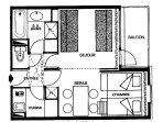 Floorplan - of one apartment.