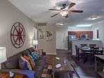 Stay Alfred Memphis Vacation Rental Living Room