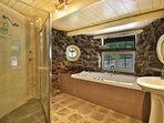 Main house - stone bathroom