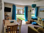 Bungalow has freeview tv, dvd player, dvd, books and games and pay as you go WiFi
