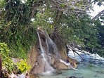 'Little Dunns River' Ocho Rios where the natural River meets the Ocean. Purely beautiful.