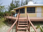 Front Cottage From Private Beach Stairs.