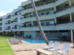 Condo located in top right corner overlooking pool area and ocean.