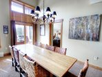 Dining Table - The large dining table seats up to 10 people