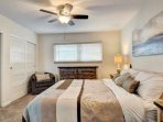King bed with spacious closets