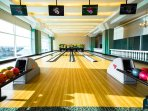 Bowling lanes at sport complex
