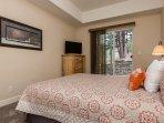 Lower Level Bedroom #3- Queen Bed with Smart Flat Screen TV