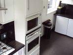 microwave , oven, fridge and freezer.