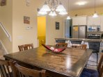 Large dining table for meals or game night fun
