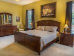 Beautiful king size upstairs bedroom with private bath