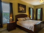 Large upstairs king bedroom