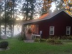Cabin right on the water. Easy parking and entrance - unload and enjoy!