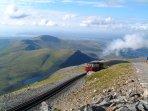 Snowdon Train that runs past Crashpad Lodges
