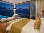 Malaiwana Penthouse - Bedroom night time setting
