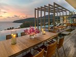 Malaiwana Penthouse - Outdoor dining by the pool