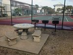 Tennis Courts, grill area