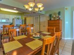Enjoy your more formal meals at the beautiful 6-person dining room table.