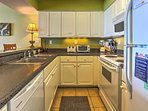 Find everything you need to cook up fantastic meals for your family in the fully equipped kitchen.