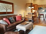 Very comfortable living room, direcTV, over gas fireplace,