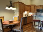 very convenient dinning area, easy access to full service kitchen
