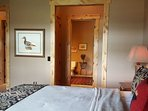 Master Bedroom Suite, connecting full bath, kingsize bed,