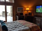 queen size sleeper sofa, direcTV, desk and access to covered patio, grill,  seating