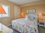 Rest your head on the queen-sized bed in the second bedroom with a flat-screen cable TV.