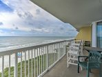 Watch the sunrise as you sip your morning coffee on the balcony with outdoor seating.