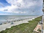 Beachfront views provide a serene atmosphere.