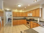 The fully equipped kitchen has everything you need to prepare delicious homemade meals.