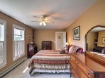 Escape to the master bedroom for a restful retreat.