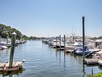 The marina is just a short 3-minute stroll from the house.
