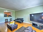 Gather in the living area to play a board game or watch a movie.