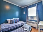 The third bedroom has a twin bed with twin trundle.