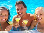 Enjoy your time with your friends in our bar at the swimming pool