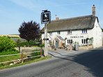 The fabulous Thimble Inn is a short stroll down the bridle path