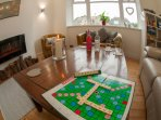 Bright, airy and spacious lounge with cosy fire. Help yourself to our selection of books & games