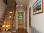 Even the front hall way looks beautiful. Very bright entrance with secure front door and open stairs