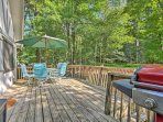 Run away to Pocono Lake and stay this 3-bedroom, 1-bath vacation rental cottage.